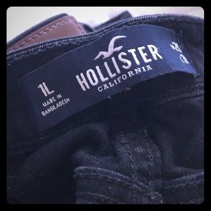 hollister high rise black skinny jeans